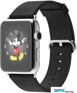 Умные часы Apple Watch 42mm Stainless Steel with Black Classic Buckle (MJ3X2)