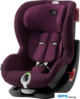 Детское автокресло Britax Romer King II LS Black Series (бургунди)